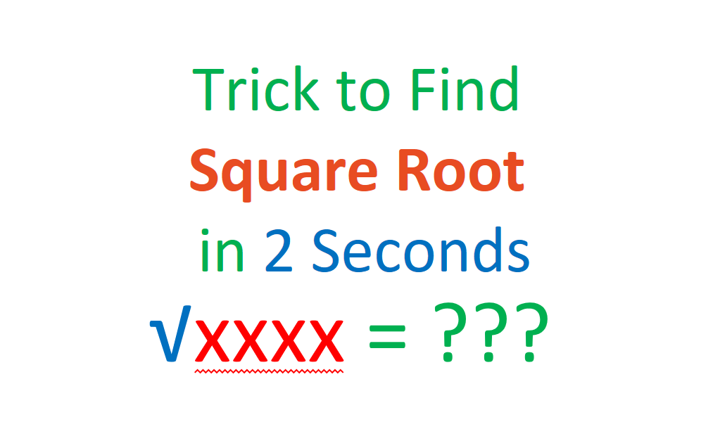 Quick Trick: How To Find Square?